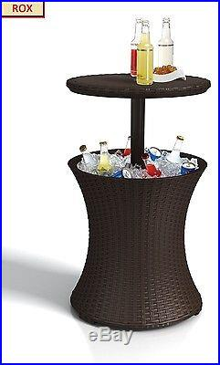 Cooler Outdoor Keter Rattan Bar Cocktail Table Patio Fade Party Modern Quality