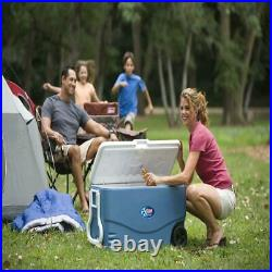 Cooler With Wheels On Large Ice Big Rolling Family Sized Antimicrobial 100 Quart