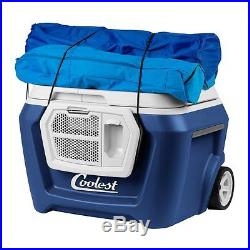 Coolest Beach Ice Portable Picnic Cooler Box Extra Cold Blue New