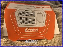 Coolest Cooler 55 QT Orange Blender BT Speaker LED Light USB Charger New