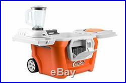 Coolest Cooler (60 Quart, Classic Orange) Premium ice Chest with Bluetooth Speak