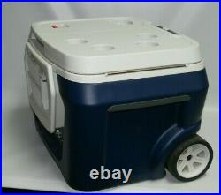 Coolest Cooler Blue- With Bluetooth Speaker and Blender No Battery