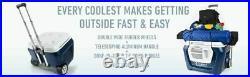 Coolest Cooler Bluetooth Speaker, LED, USB Charger, Plates, ORANGE