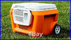 Coolest Cooler- Classic Orange Color- Built in Blender- Bluetooth Speaker- NIB