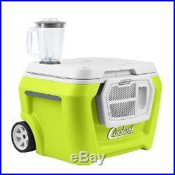 Coolest Cooler EVER! Built In Blender Blutooth Speaker USB Charger Tie Downs