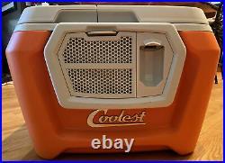 Coolest Cooler Orange, Blender, Bluetooth Speaker, Plates, See Description