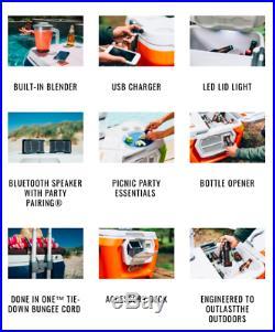 Coolest Cooler Party Cooler with Blender Bluetooth Speaker LED Light USB NEW