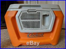 Coolest Portable Cooler Classic Orange Bluetooth Speaker Blender Charger