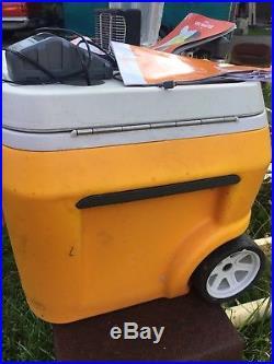 Coolest Portable Cooler Classic Orange Bluetooth Speaker Blender Charger ORG60