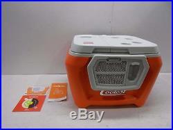 Coolest Wheeled Speaker Cooler Classic Orange