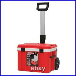 Craftsman Verastack 30 Quart Wheeled Insulated Chest Cooler 48 Can, brand new