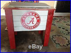 Custom wood cooler stand