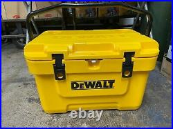 DeWalt 25qt Insulated Lunch Box Cooler DXC25QT Yellow drink work camp cold chest