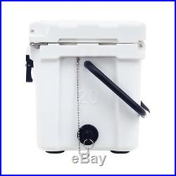 Driftsun 20 Quart Ice Chest / Heavy Duty Cooler (White)