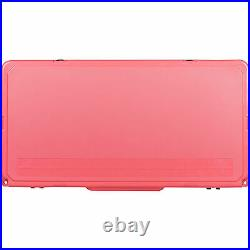 Driftsun Portable 110 Quart Insulated Hard Ice Chest Cooler, Coral (For Parts)