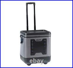 EVO Premium Rolling Cooler Leak Resistant Cooler with Wheels Telescopic Handle