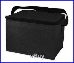 EasyLunchboxes Insulated Lunch Box Cooler Bag, Black, Free Shipping, New