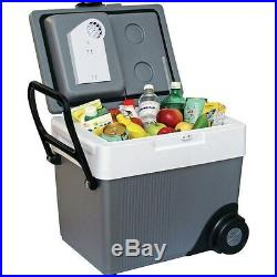 Electric Rolling 33 Qt. 12V Travel Cooler, Compact Portable Refrigerator & Heat