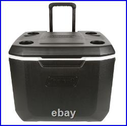 Extreme 50-Qt Outdoor BBQ Patio Rolling Wheeled Beverage Cooler Ice Box Black