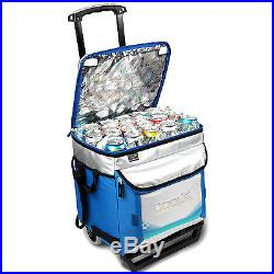 Foldable 50-can Rolling Cooler Bag Ice Chest insulated Camping Picnic Portable