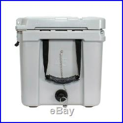 Frosted Frog Gray 45 Quart Ice Chest Heavy Duty Roto-Molded Insulated Cooler