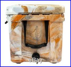 Frosted Frog Orange Camo 45 Quart Ice Chest Heavy Duty Molded Insulated Cooler