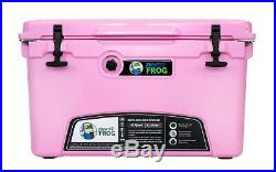 Frosted Frog Pink 45 Quart Ice Chest Heavy Duty Roto-Molded Insulated Cooler