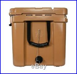 Frosted Frog Tan 75 Quart Ice Chest Heavy Duty Roto-Molded Insulated Cooler