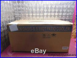 Garden Oasis 80qt Stainless Steel Patio Cooler Model PS-203SS CLEAN