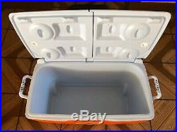 Gatorade Rubbermaid Heavy Duty Cooler withWheels Handle 60 Quart Cup Holders NEW