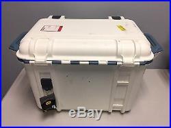 Genuine OtterBox Venture 45 Quart Cooler Hudson White/Blue FREE Shipping