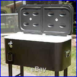 Giant Cooler on Wheels 77 QT/100 Cans Outdoor Entertainment Patio Cookouts Beach