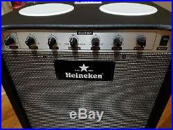 Guitar Amp design Heineken Cooler Bluetooth Speakers/Usb/SD Card 18x12x19