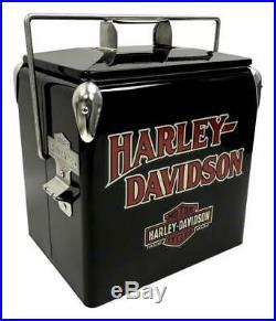 Harley-Davidson Bar & Shield Retro Metal Cooler 13 liter, Black HDX-98504