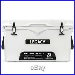 Heavy Duty Cooler White Roto-molded, Insulated, Portable Ice Chest Camping