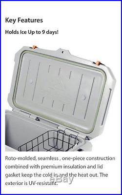 Heavy Duty Seamless 52 qt Cooler w Handles Latch Outdoor Ice Storage Box Chest