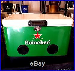 Heineken 54qt Metal Cooler with Bluetooth Speaker