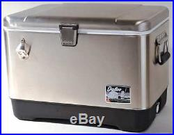 IGLOO 44669 Chest Cooler, 54 qt, Stainless Steel