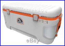 IGLOO 44807 Full Size Chest Cooler, 120 qt, Wht/Org