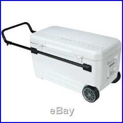 IGLOO 45184 Chest Cooler, Glide, 110 qt, White