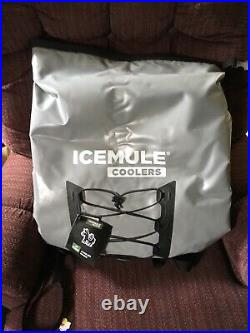 IceMule Pro Large 23L Portable Insulated Waterproof Backpack Cooler Bag Grey
