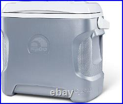 Ice Chest Cooler Iceless Thermoelectric 28 Quart Beverage Portable 12V Silver