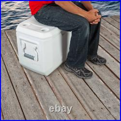 Ice Chest Cooler with Wheels Rolling 100 Quart Portable Heavy Duty Coleman White