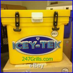 Icey Tek 25 quart Cooler Yellow, Authorized Icey-Tek Dealer