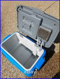 IcyBreeze 38 Qt. Portable Air Conditioner & Cooler used with smart charger