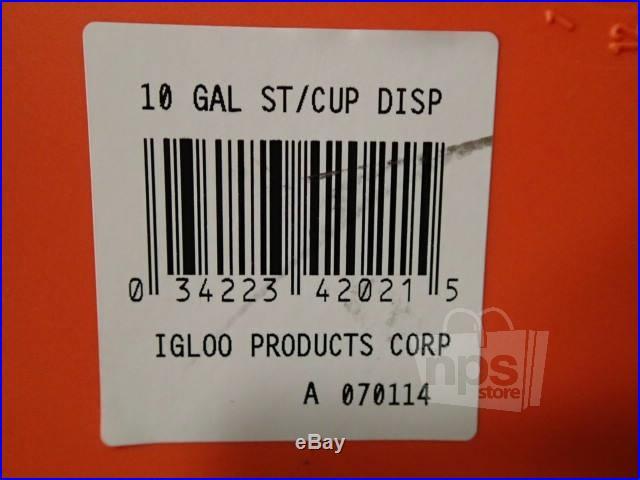 Igloo 00042021 10 Gallon Seat Top Beverage Cooler Dispenser Orange Pressure Lid