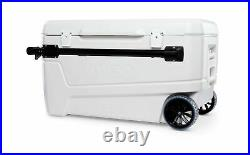 Igloo 110 Qt Glide Pro Portable Large Ice Chest Wheeled Cooler