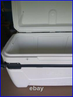 Igloo 110 Qt Glide Pro Portable Large Ice Chest Wheeled Cooler, White