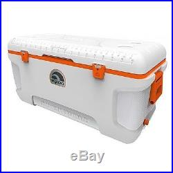 Igloo 120-Qt Cooler Ice Chest Marine Heavy Duty Cooler Riser Stainless Hinges