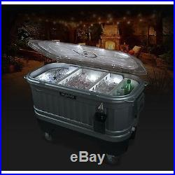 Igloo 49271 Party Bar Lit Cooler, Handy bottle opener with catch bin, LED Lights
